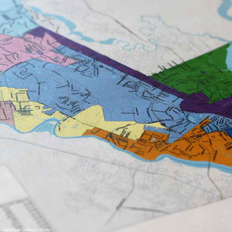 A map of the redistricting plan for the City of North Charleston.