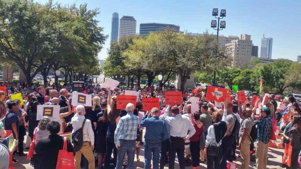 Protestors rally at Texas capitol
