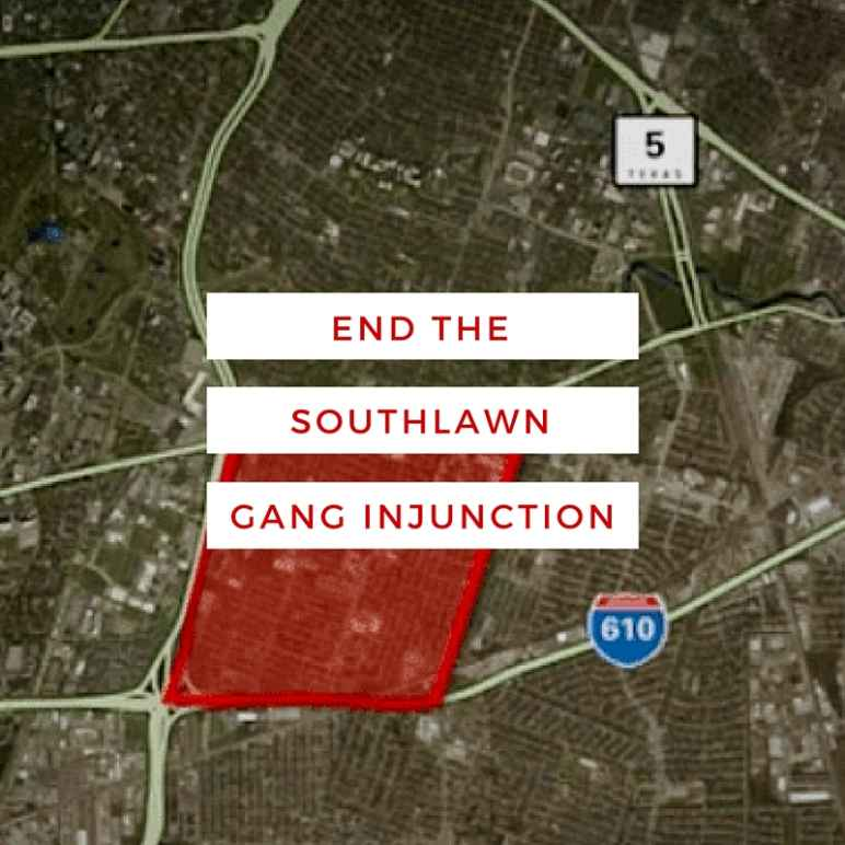 End Southlawn Gang Injunction