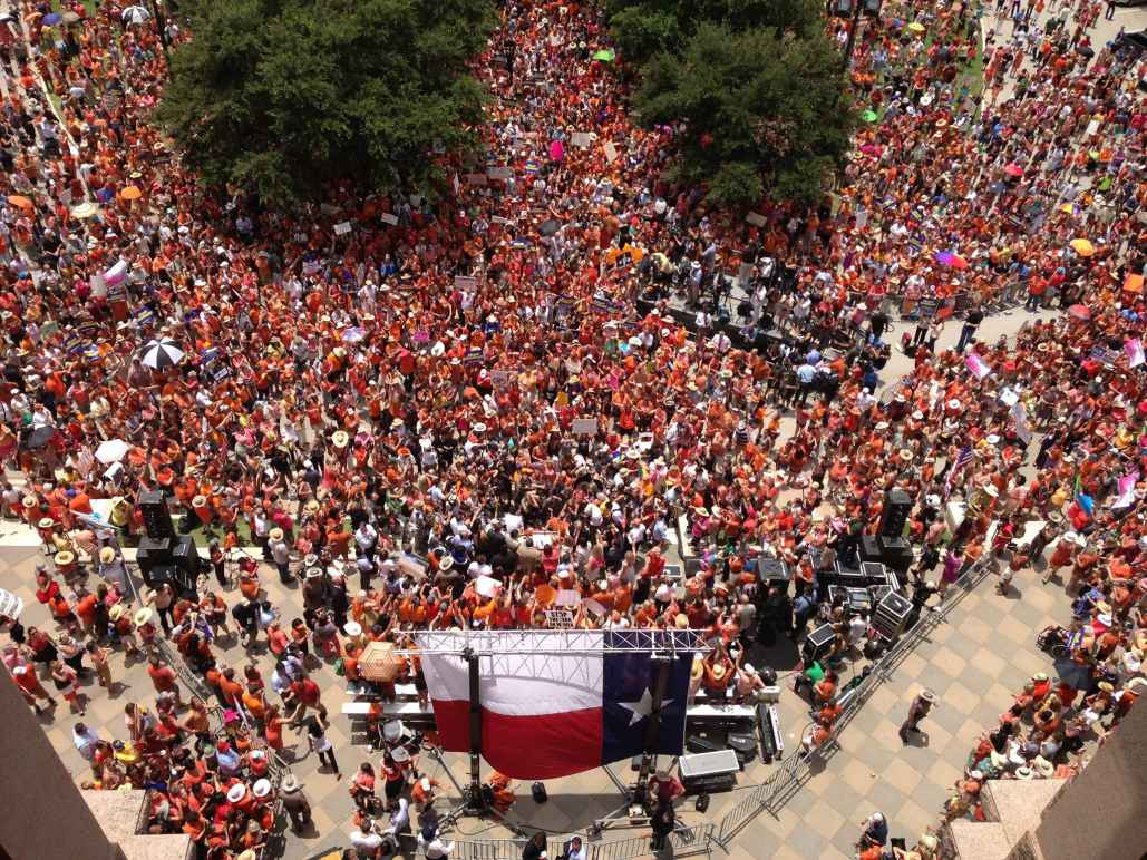 Stand With Texas Women crowd at rally