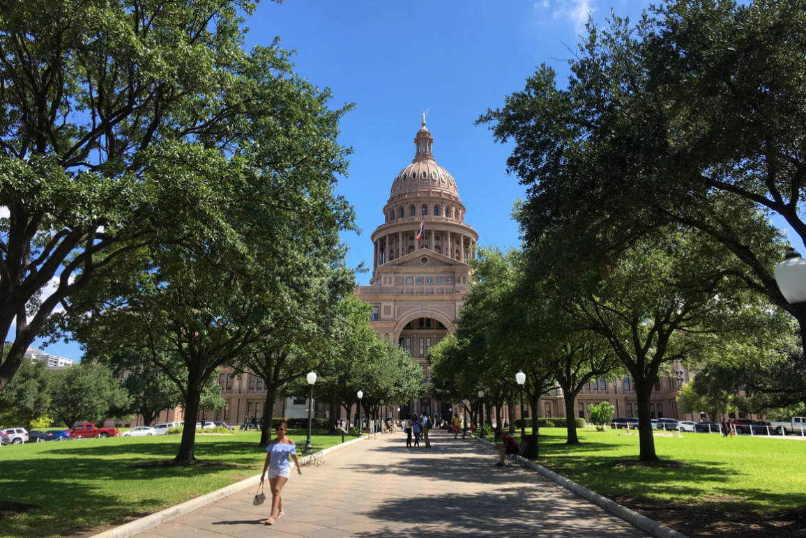 Texas Capitol front lawn