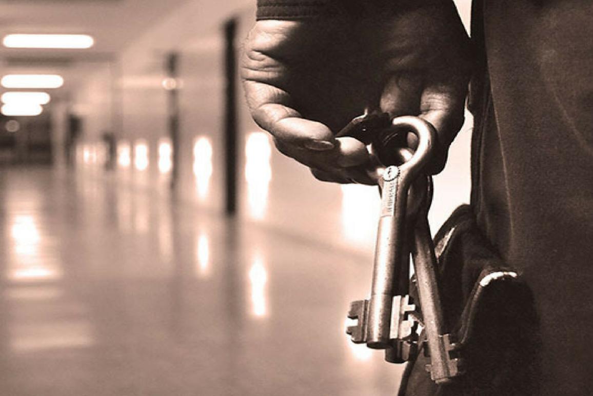 Jailer holding cell keys