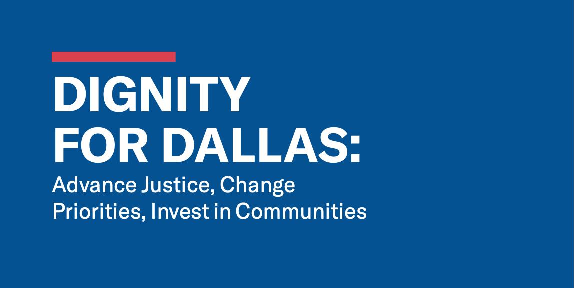 Dignity for Dallas report graphic