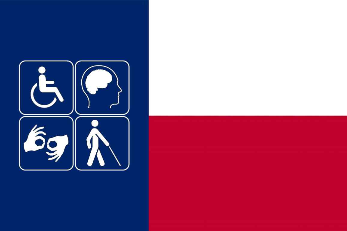 Disability pride month + Texas state flag