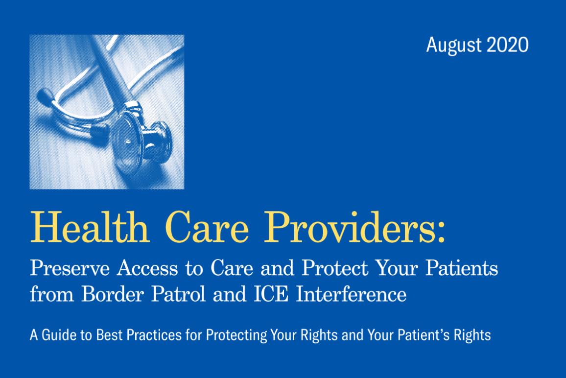 Healthcare Providers Hospital Guide CBP ICE
