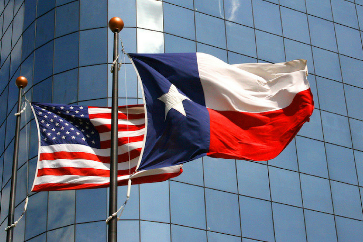 TX and American flag