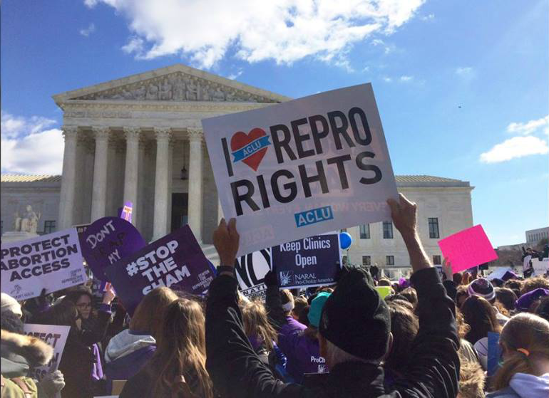 Abortion protest at the Supreme Court