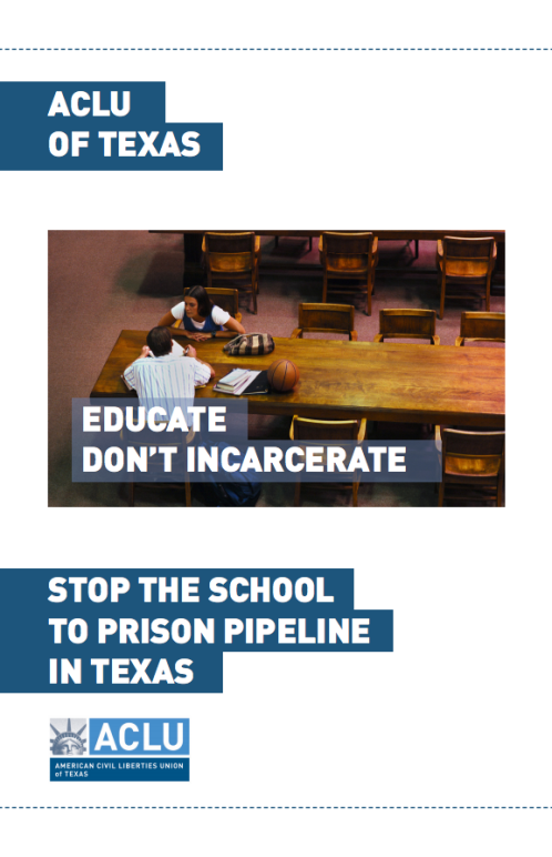 Cover of stop the school to prison pipeline booklet