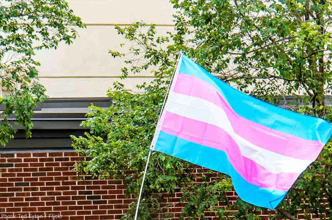 Trans Flag March