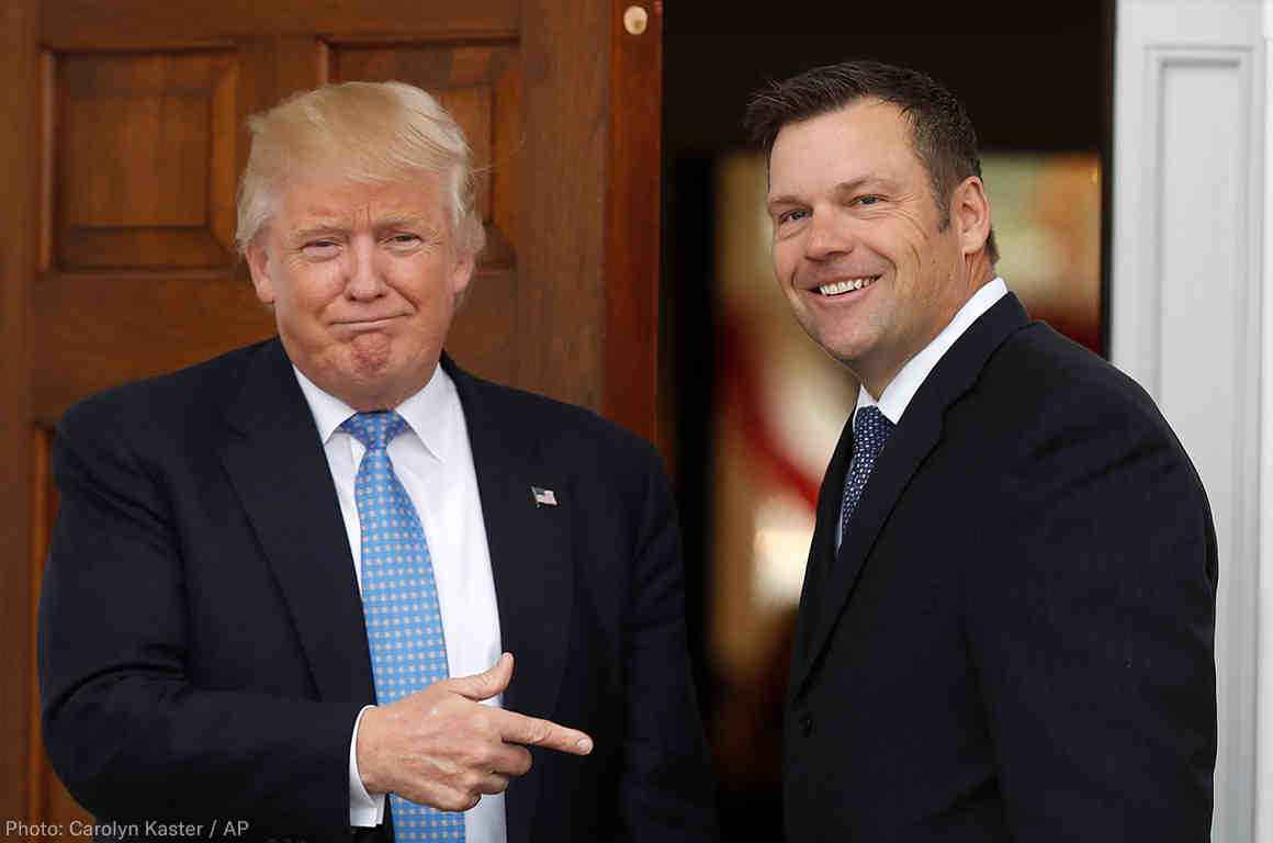 Trump and Kobach voting commission