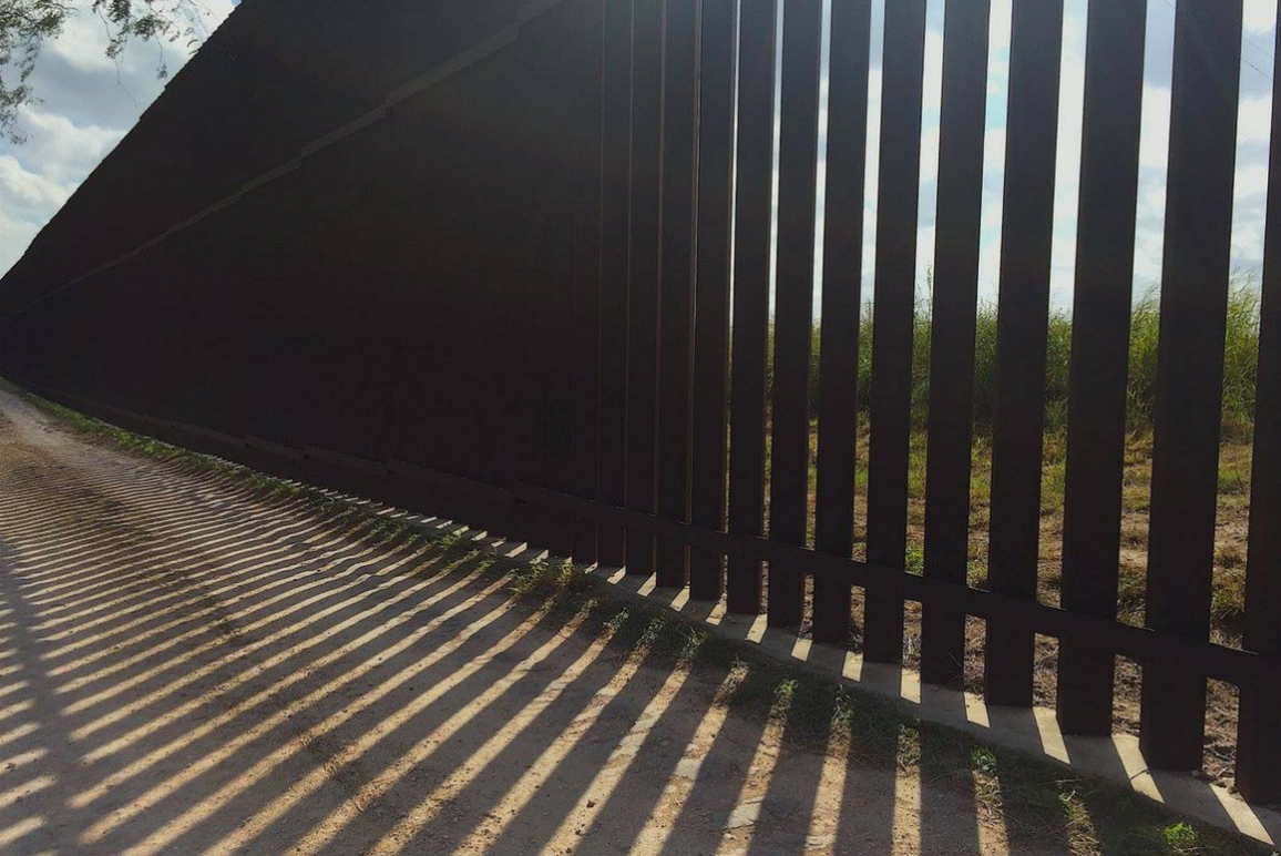Border wall in Brownsville