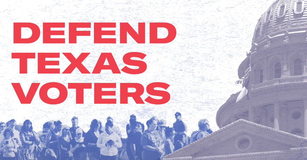 Defend Texas Voters graphic banner