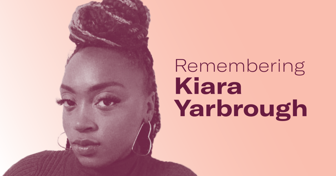 "An image of Kiara with the words ""Remembering Kiara Yarbrough"" to the right"