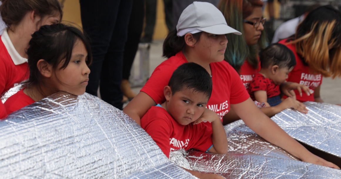 Kid at rally in Brownsville, Texas